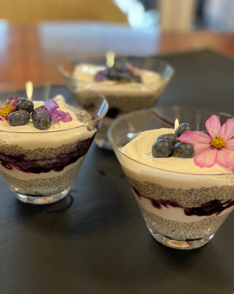 healthy chia seed pudding served as a nutritional breakfast meal