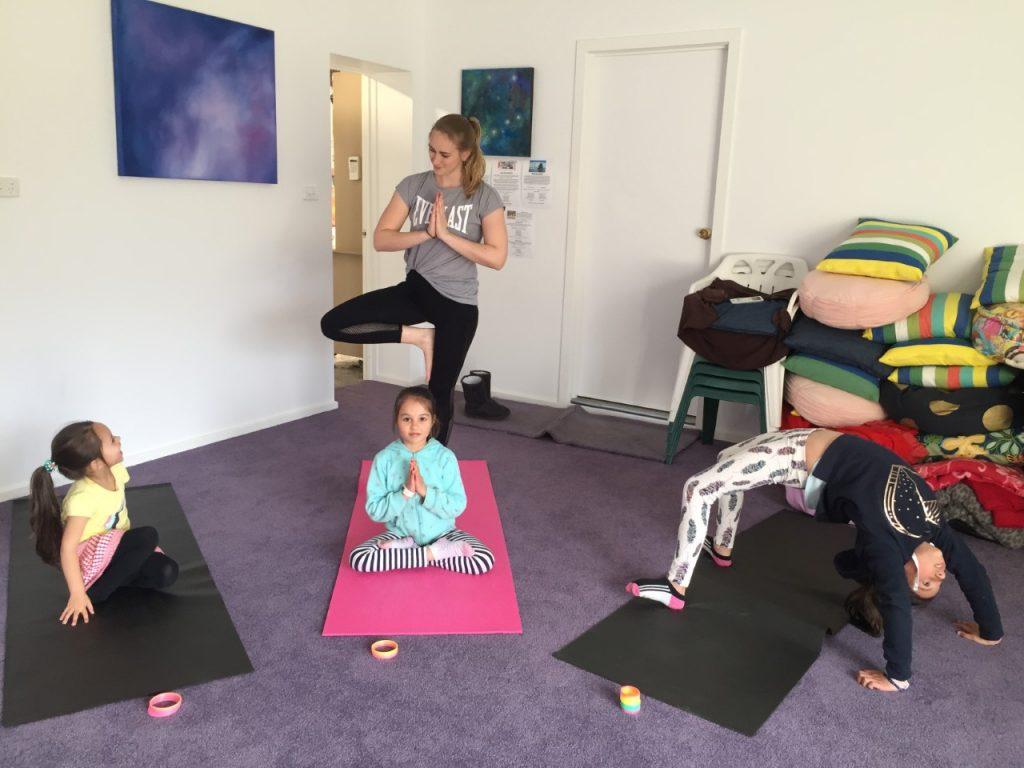kids children yoga