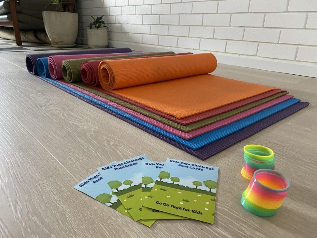 yoga kids colour props