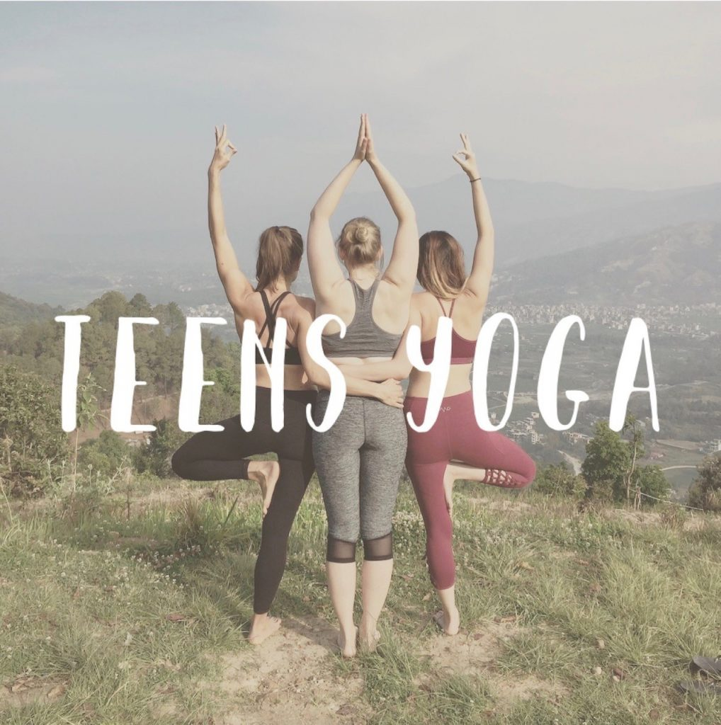 teens teenagers yoga