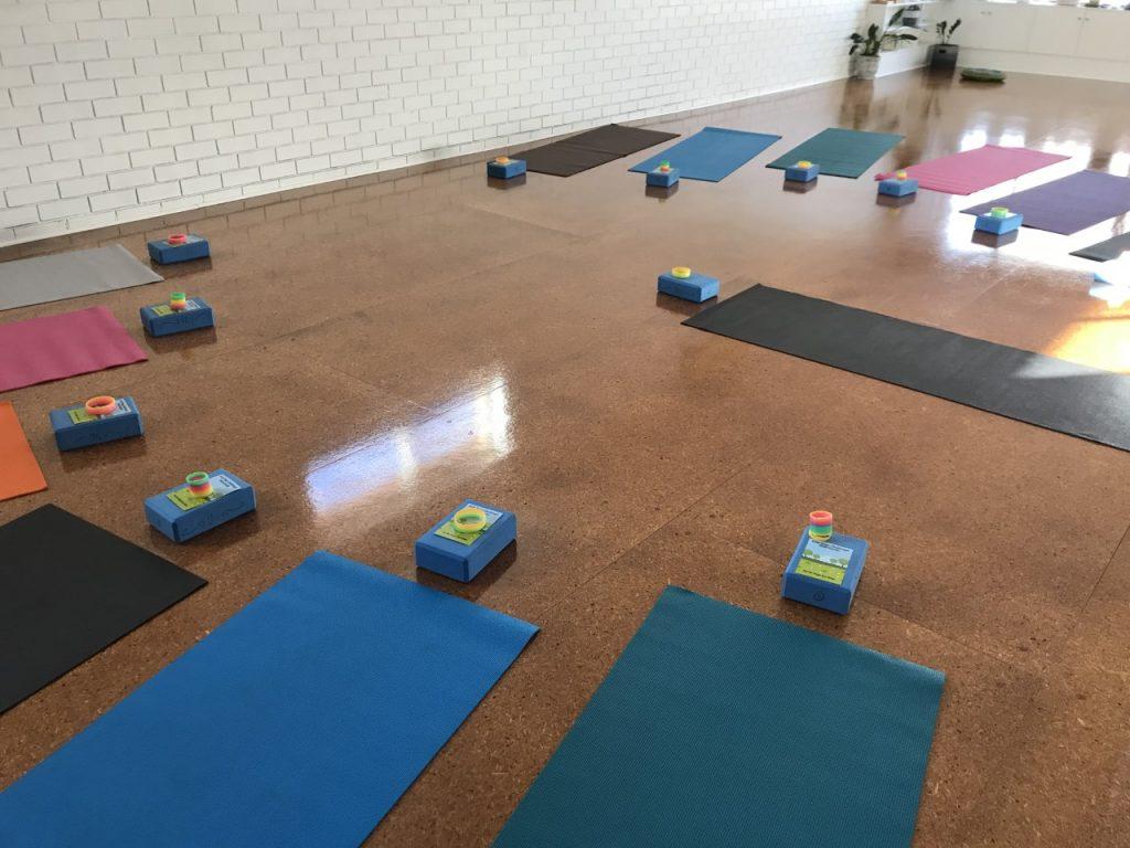 yoga mats props